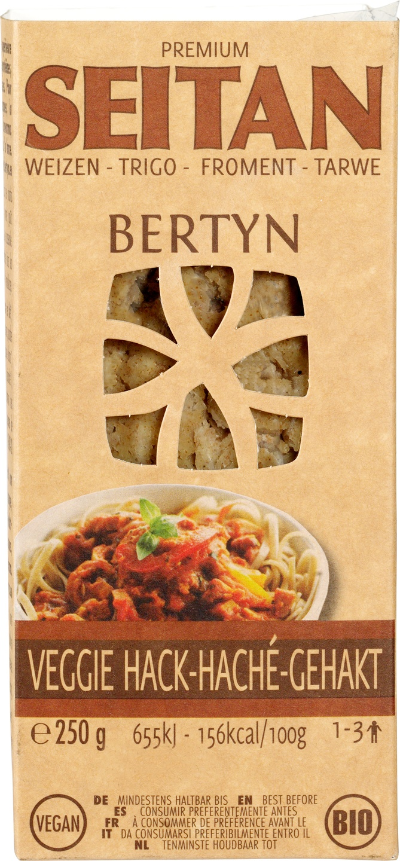 Biologische Bertyn Seitan-tarwe veggie gehakt 250 gr