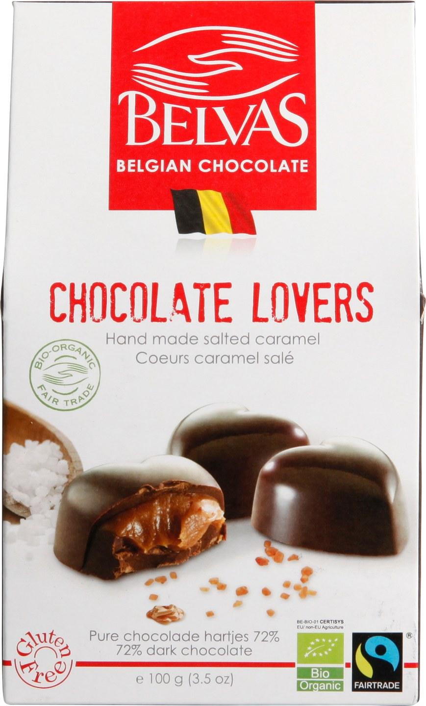 Biologische Belvas Chocolade bonbons - chocolate lovers 100 gr