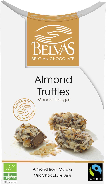 Biologische Belvas Chocolade truffels - amandel 100 gr