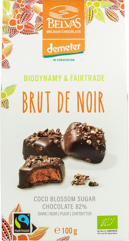 Biologische Belvas Chocolade bonbons - Brut de noir 100 gr