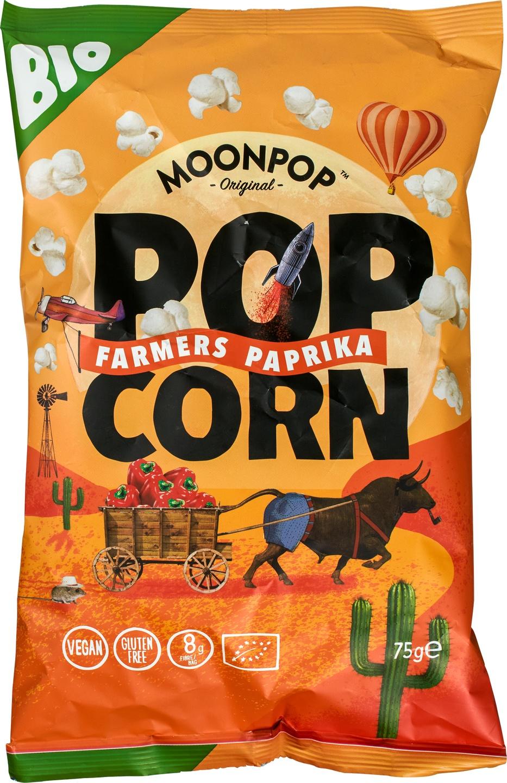 Biologische Moonpop Moonpop popcorn paprika 70 gr