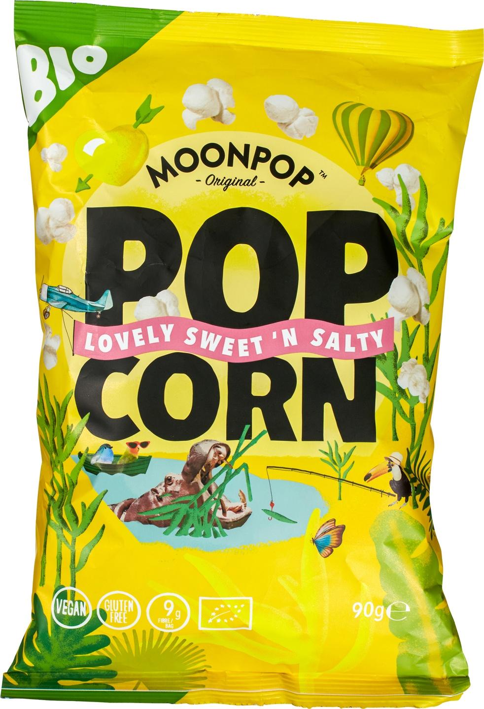 Biologische Moonpop Moonpop popcorn sweet 'n salty 90 gr