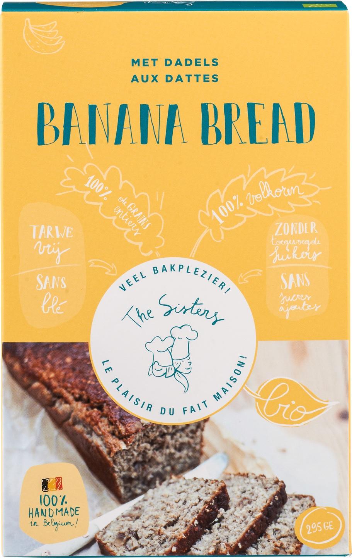 Biologische Arthur & The Sisters Bananenbrood mix met dadels 295 gr