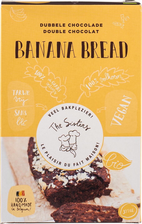 Biologische Arthur & The Sisters Bananenbrood mix chocolade 311 gr