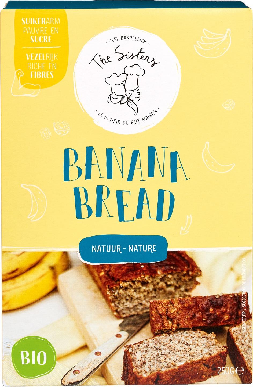 Biologische Arthur & The Sisters Bananenbrood mix Natuur 350 gr
