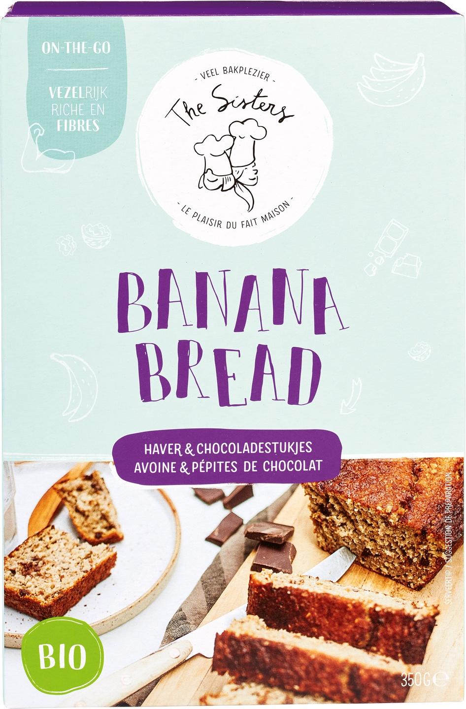 Biologische Arthur & The Sisters Bananenbrood mix Haver & Chocolade 350 gr