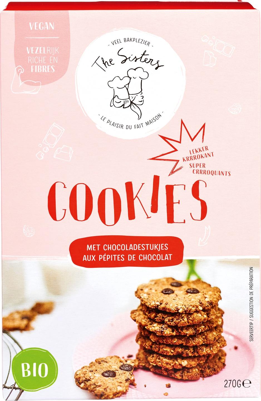 Biologische Arthur & The Sisters Cookies bakmix met stukjes Chocolade 270 gr