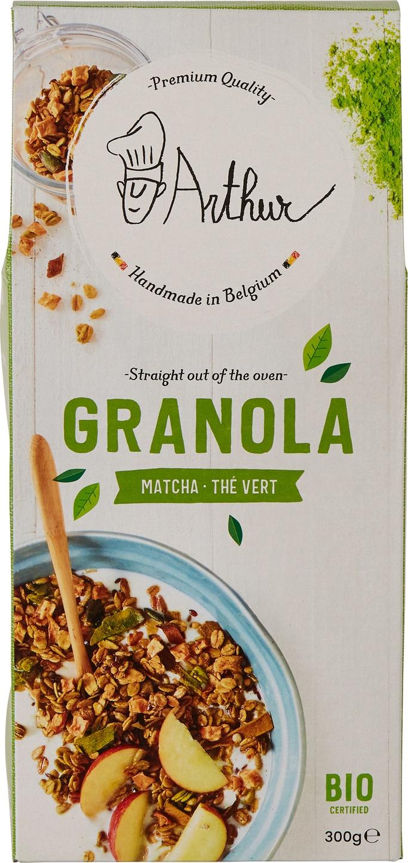 Biologische Arthur & The Sisters Granola matcha 300 gr
