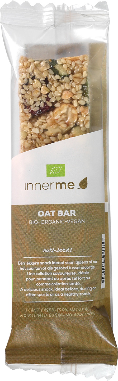 Biologische innerme Oat Bar 'nuts & seeds' 40 gr
