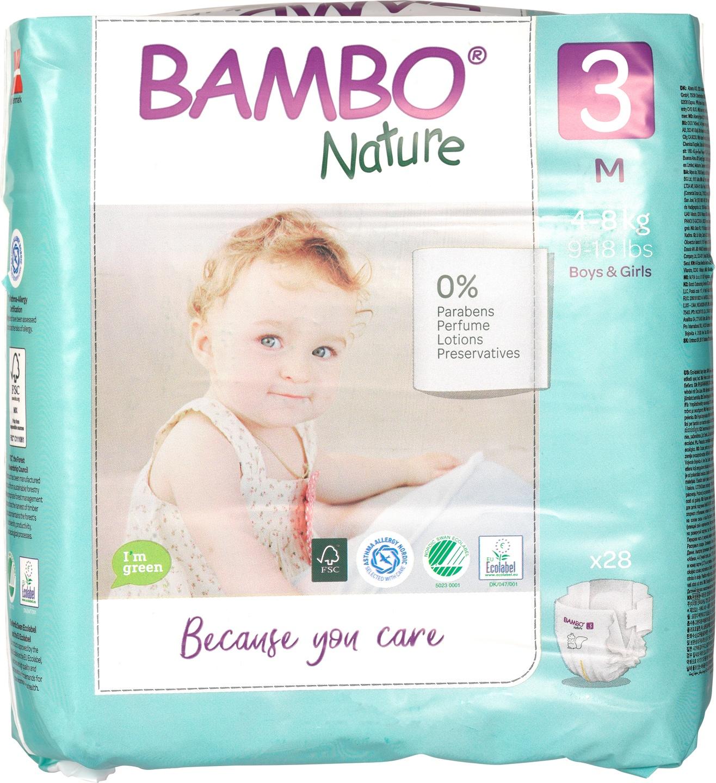 Biologische Bambo Nature Midi luier 3 (4-8kg) 28 st