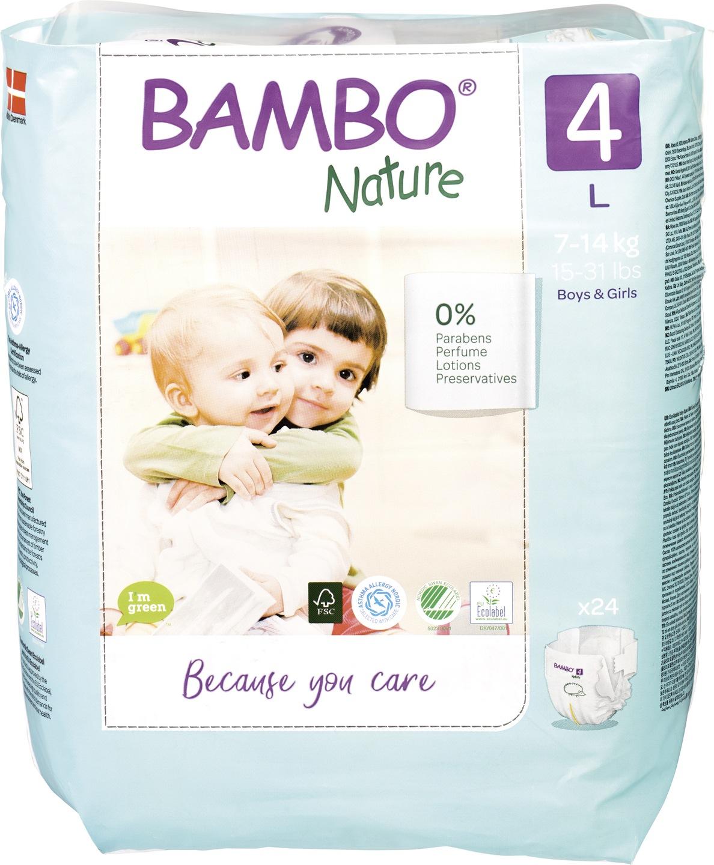 Biologische Bambo Nature Luiers 4 (7-14 kg) 24 st