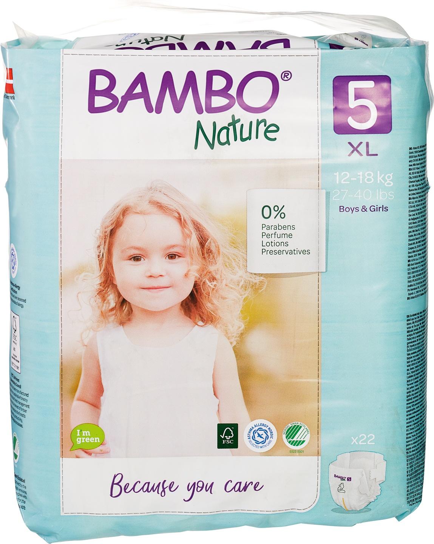 Biologische Bambo Nature Junior luier 5 (12-18kg) 22 st