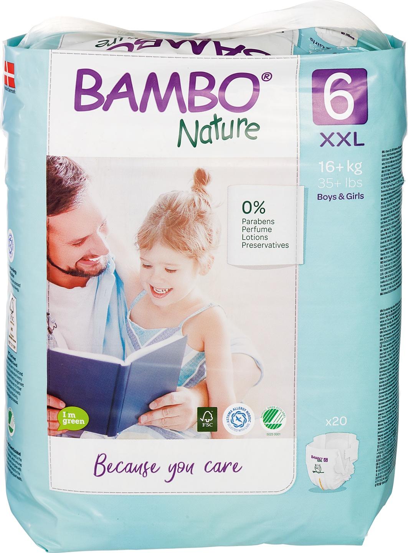 Biologische Bambo Nature Luiers 6 (16+ kg) 20 st