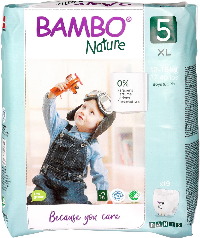 Biologische Bambo Nature Luierbroekjes 5 (12-18 kg) 19 st