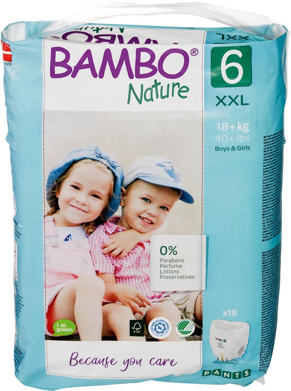 Biologische Bambo Nature Luierbroekjes 6 (16+ kg) 18 st