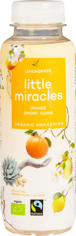 Biologische Little Miracles Ice tea lemongrass 330 ml