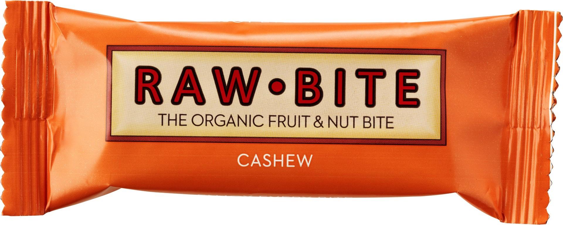 Biologische raw.bite Fruit & nut bite cashew 50 gr