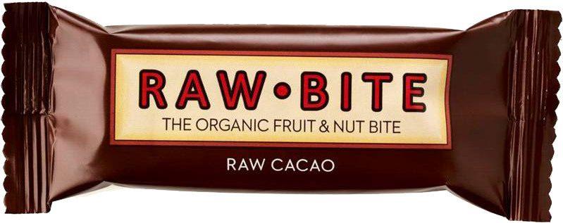Biologische raw.bite Fruit & nut bite cacao 50 gr