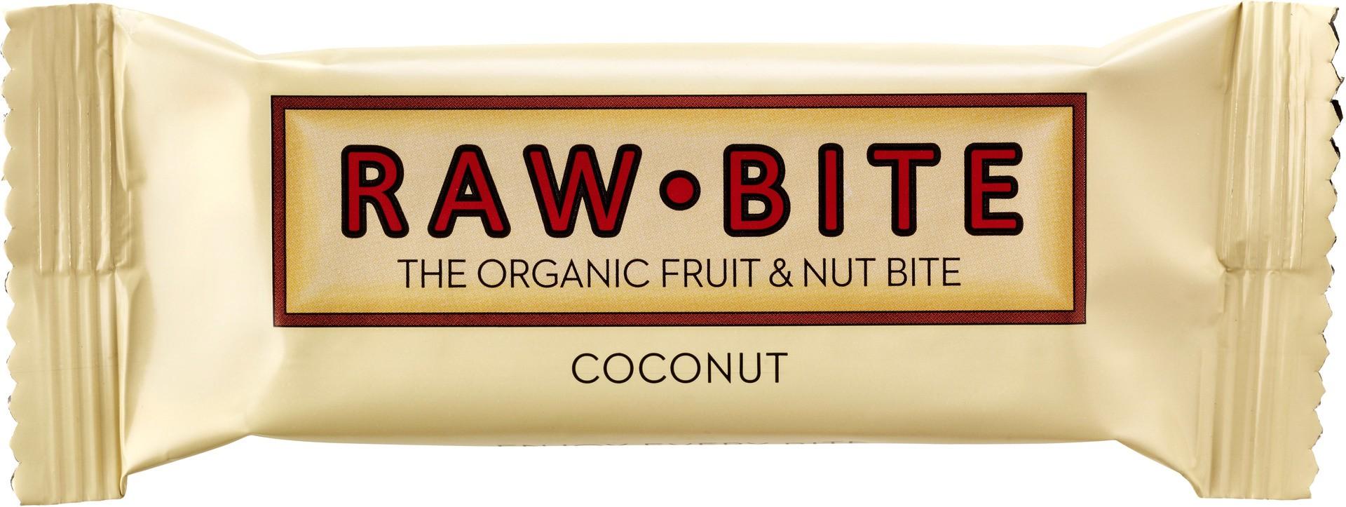 Biologische raw.bite Fruit & nut bite coconut 50 gr
