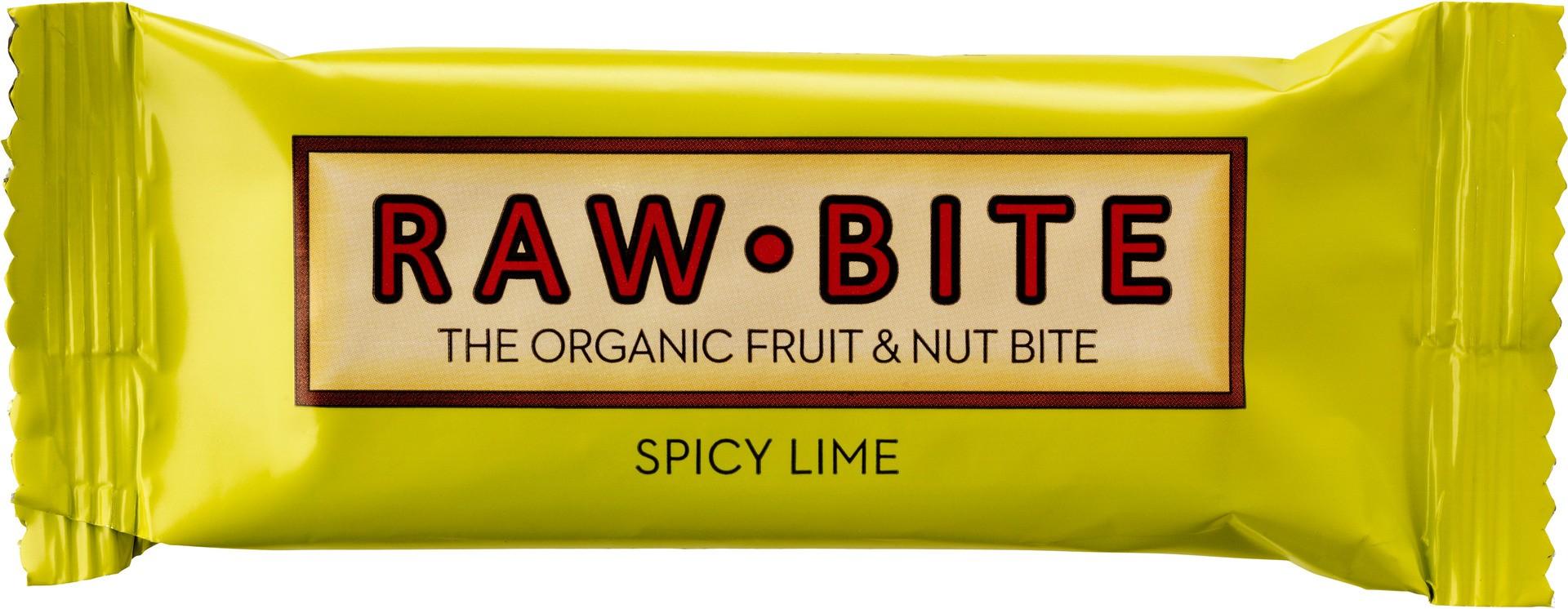 Biologische raw.bite Fruit & nut bite spicy lime 50 gr