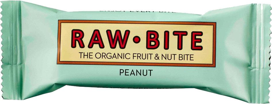 Biologische raw.bite Fruit & nut bite peanut 50 gr