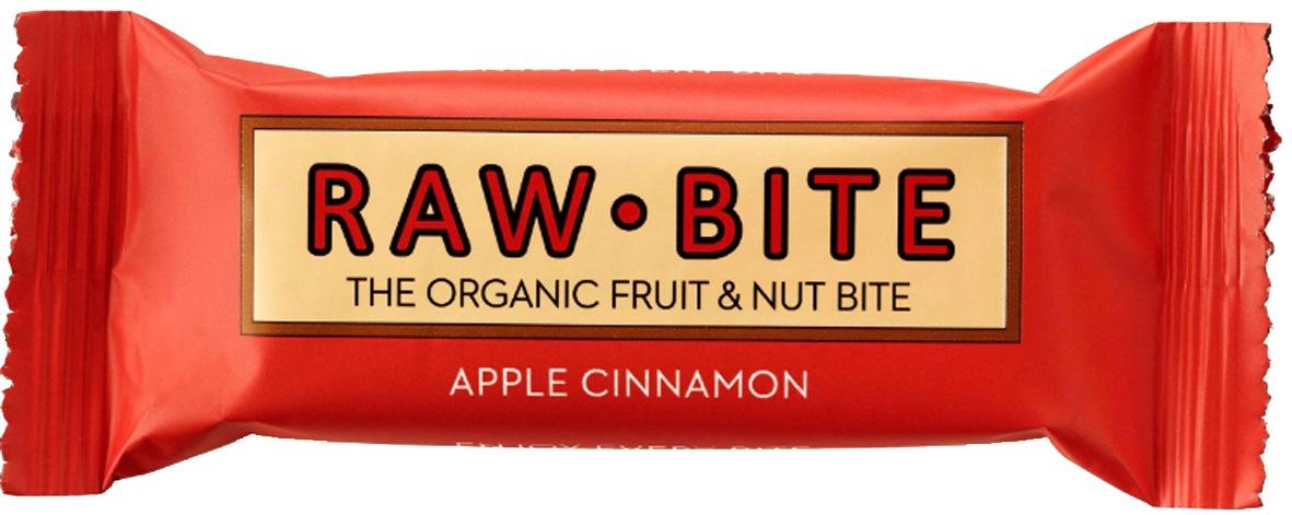 Biologische raw.bite Fruit & nut bite apple-cinnamon 50 gr