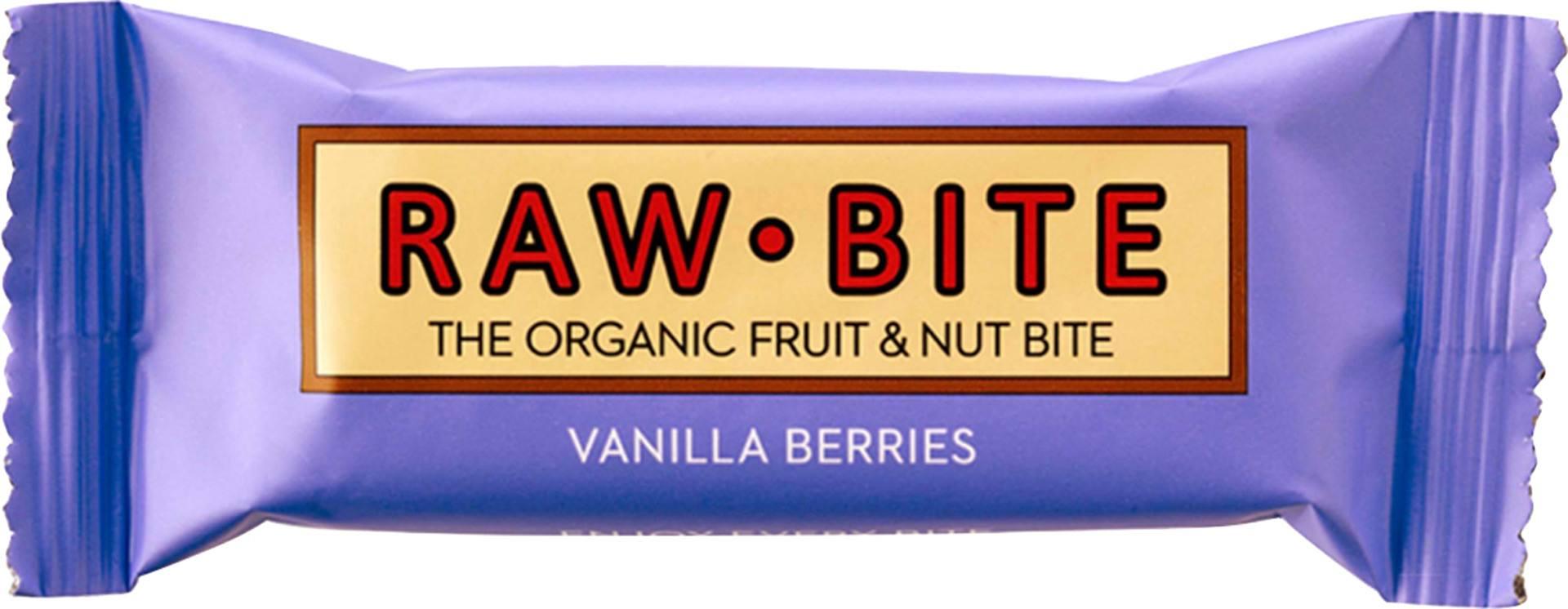 Biologische raw.bite Fruit & nut bite vanilla berries 50 gr