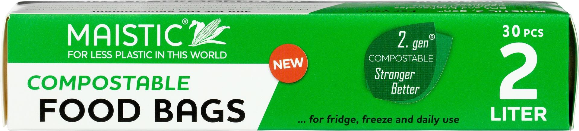 Biologische Maistic Diepvrieszakjes 2L compost 30 st