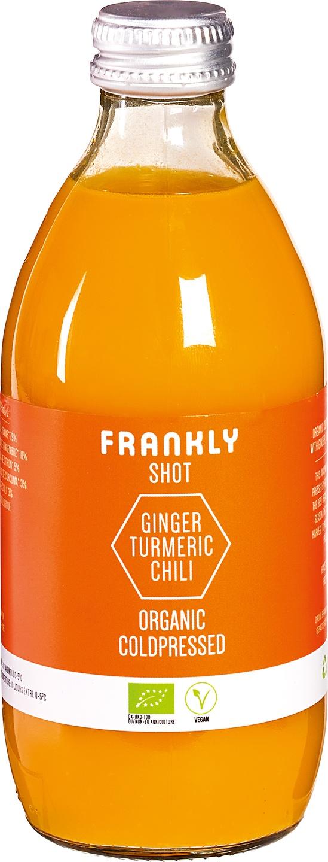 Biologische Frankly Ginger turmeric chili shot 330 ml