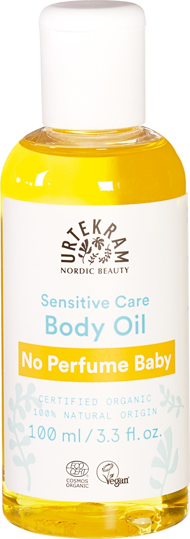 Biologische Urtekram Baby olie zonder parfum 100 ml