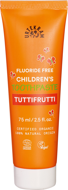Biologische Urtekram Tandpasta kids tuttifrutti 75 ml