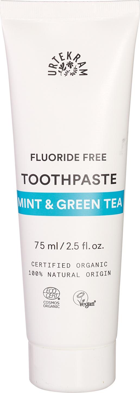 Biologische Urtekram Tandpasta munt groene thee 75 ml