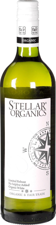 Biologische Stellar Organics Witte wijn - zonder sulfiet 750 ml