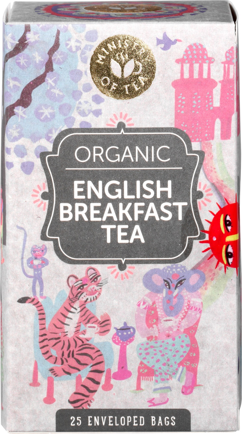 Biologische Ministry of Tea Zwarte thee English breakfast 25 st