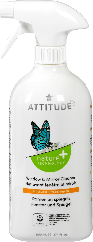 Biologische Attitude Ramen en spiegels spray 800 ml