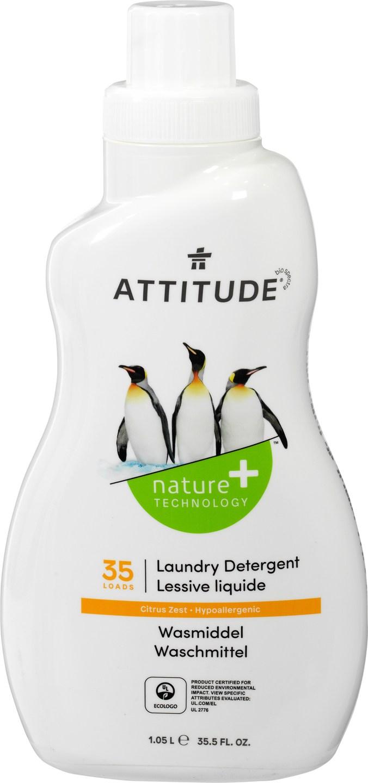 Biologische Attitude Wasmiddel citroenrasp 1.05 L