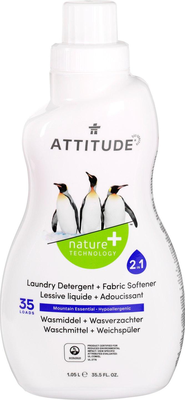 Biologische Attitude Wasmiddel & wasverzachter hypoallergeen 1 L