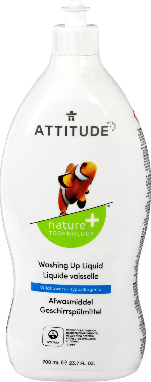 Biologische Attitude Afwasmiddel veldbloem 700 ml