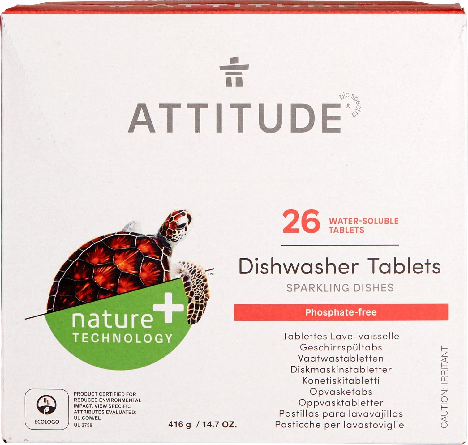 Biologische Attitude Vaatwastabletten 26 st