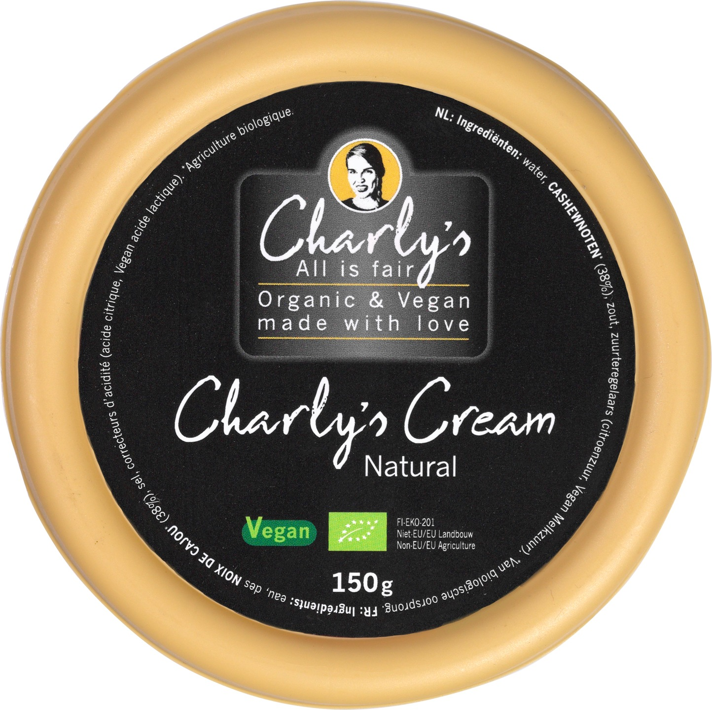 Biologische Charly's All is Fair Cream natural 150 gr