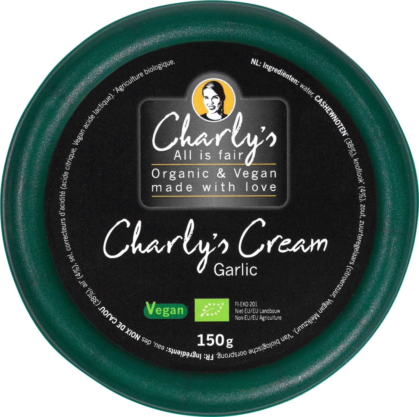 Biologische Charly's All is Fair Cream garlic 150 gr