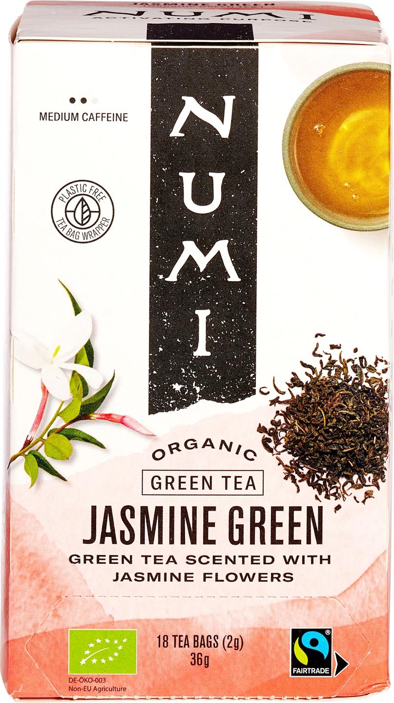 Biologische Numi Groene thee jasmijn 18 builtjes