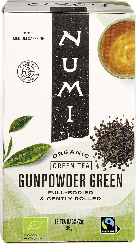 Biologische Numi Groene thee gunpowder 18 builtjes