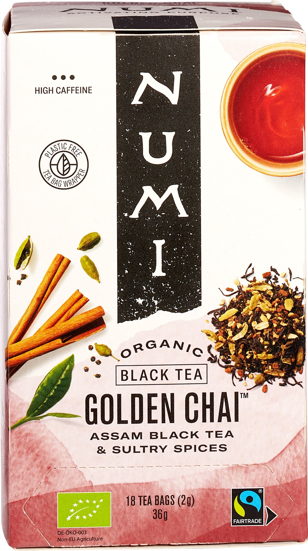 Biologische Numi Kruidenthee golden chai 18 builtjes