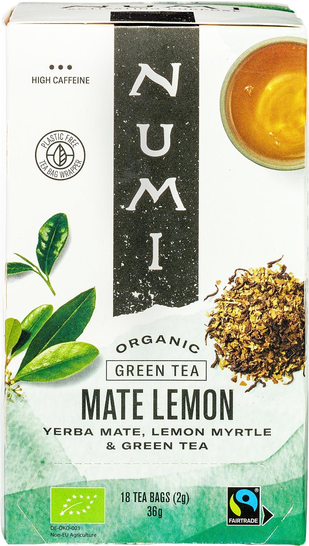 Biologische Numi Groene thee maté citroen 18 builtjes