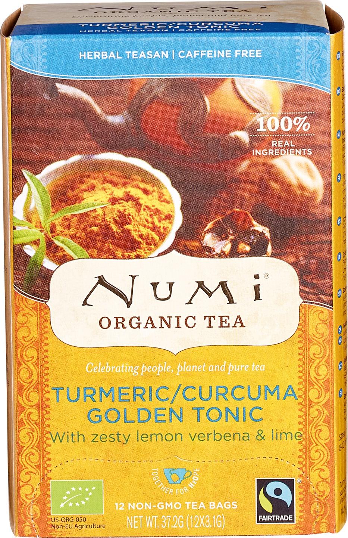 Biologische Numi Kruidenthee turmeric golden tonic 12 builtjes