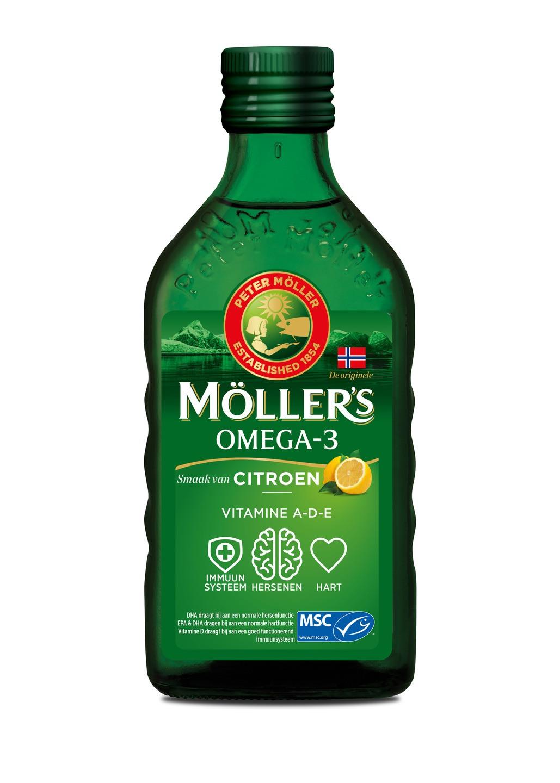 Biologische Mollers Levertraan citroen 250 ml