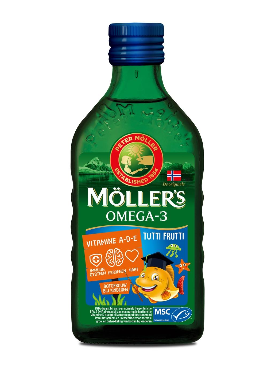 Biologische Mollers Levertraan tutti frutti kids 250 ml