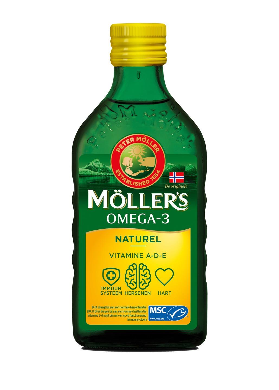 Biologische Mollers Levertraan naturel 250 ml