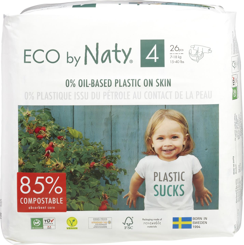 -20% SALE | Biologische Naty Luiers 4 maxi 7-18 kg. 26 st